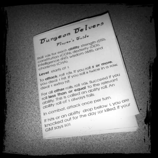Dungeon Delvers pocketmod folded version