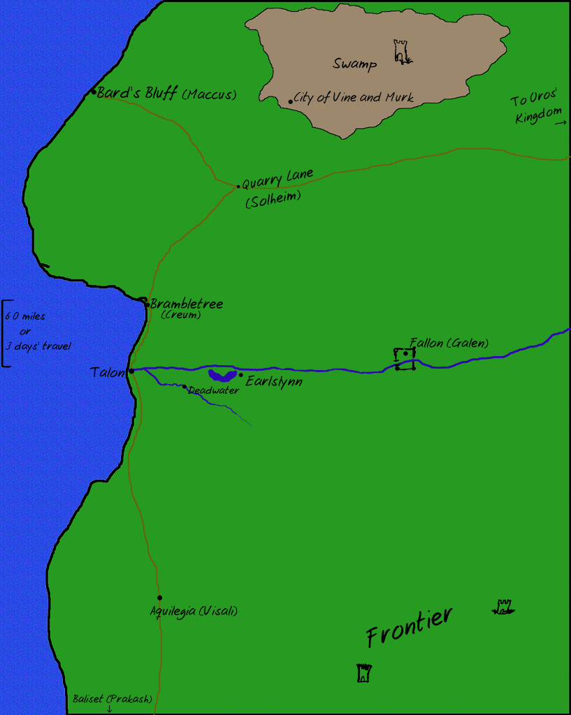Talon and surrounding area